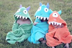 Monster towels... I could probably do this...