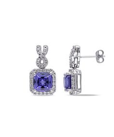 Another great find on #zulily! Tanzanite & White Sapphire Pavé Twist Stud Earrings #zulilyfinds
