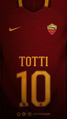 AS Roma 16-17 kit home Francesco Totti #10 #soccertips