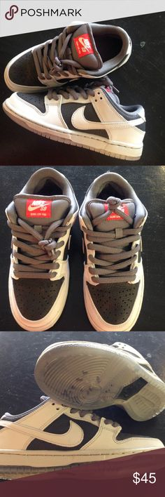 san francisco a4eb8 032da Boys Nike SB Dunk low Grey and Black Dunk Low. NEW no box. Never