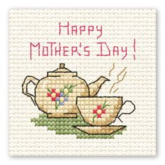 Mini Cross Stitch Mother'S Day Teapot | Hobbycraft