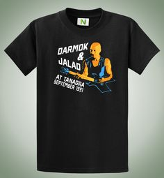 Darmok and Jalad at Tanagra T-shirt  Black, 100% Ring-Spun cotton tee shirt. All shirts are hand made by me, and feature a durable, and awesome