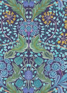 100% cotton Liberty Tana Lawn.    Approximately 137cm in width.     The Strawberry Thief, Liberty Art Fabrics, Purple Pattern, William Morris, Textile Design, Egyptian, Art Gallery, Arts And Crafts, Lawn