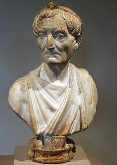 Priest, Roman bust (marble), 2nd century AD, (Metropolitan Museum of Art, New York).