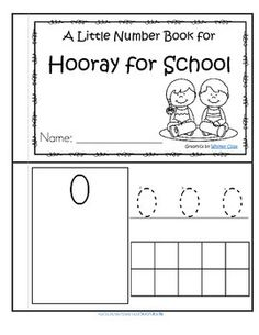 This is a booklet to review and practice counting and number recognition 0-10. It has a Back to School theme.  Children can recognize the numerals, count the sets, trace the numbers, and fill in the 10-frames by stamping or coloring.