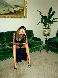 green velvet lounge