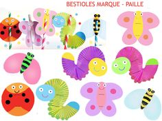 figures for straws Bug Cupcakes, Caterpillar Cake, Mickey Party, Love Bugs, Paper Lanterns, Favor Boxes, Diy Toys, Cupcake Toppers, Birthday Party Themes