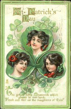 Daughters of Erin Vintage Postcard - St. Patrick's Day