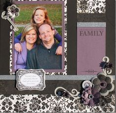 Family layout using For Always paper and Family Love stamp set