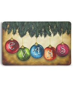 Personalized Ornament Doormat - 17x27 - Christmas Ornaments by Personal Creations. $24.99. Ornament Doormat - 17X27