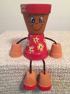 Clay Pot People - Sunflower Girl