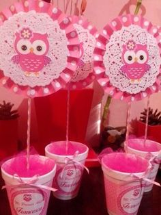 Baby shower centros de mesa buho Ideas for 2019 Baby Shower Cake Pops, Baby Shower Balloons, Baby Shower Parties, Baby Shower Themes, Owl Parties, Owl Birthday Parties, Owl 1st Birthdays, Tissue Paper Flowers, Baby Boy Shower