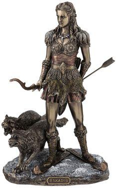 Skadi- Norse Goddess of Winter, Hunt and Mountains home decor figure statue | eBay