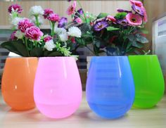 Home Unbreakable Silicone Wine Glass Stemless Beer Whiskey Collapsible Cups FI