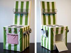 anna.blume: Kinderküche mal anders (genähte Stuhlhusse als Kinderküche)