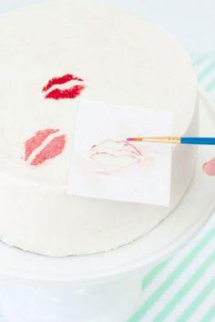 τουρτα για φιλημα!!-easy cake decoration idea!