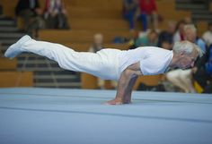 A participant of the German Gymnastics Festival competes on the floor during the events seniors championship on May 19, 2013 in Schwetzingen, western Germany. The gymnastics competition and sports-for-all event is running until May 25, 2013 in several venues of the Rhine-Neckar region. Organisers expect more than 80,000 participants. AFP PHOTO / UWE ANSPACH / GERMANY OUT / RESTRICTED TO EDITORIAL USE IN CONNECTION WITH REPORTS ON THE EVENT - NO ARCHIVESUWE ANSPACH/AFP/Getty Images