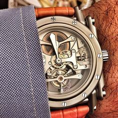 Androgyne tourbillon sandblasted steel case Repost from @whatmakesmetick by manufactureroyale