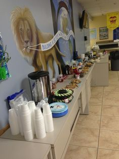 A hot chocolate bar for the students before holiday break.