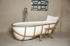 Crazy cool bathtub by Studio Thol.  Great form. Whimsy. Made me chuckle. #design