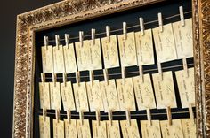 Do it yourself Wedding ideas! Rustic seating cards display.