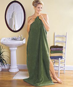"These gigantic towels are almost 6 feet long! Jumbo 35"" x 70"" Bath Sheets are big enough to wrap yourself in after every bath or shower. Plus, they come at an incredible price!"