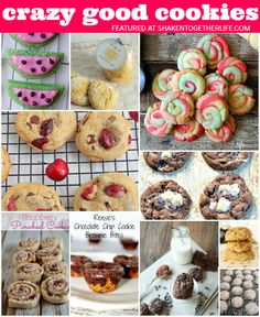 10 CRAZY GOOD cookies for your cookie jar - get a big glass of milk ready and dig in!!