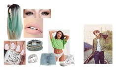 """""""J-hope"""" by eruben on Polyvore featuring Out From Under, Paige Denim, Converse, Jouer, Design Lab and Louis Vuitton"""