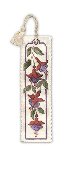 Fuchsias Bookmark Cross Stitch Kit