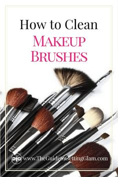 How to Clean Makeup Brushes - What is the best way to care for your makeup brushes? Here are makeup artist tips on how to clean makeup brushes the right way. Source by francyterency - How To Wash Makeup Brushes, Learn Makeup, Best Makeup Tips, Best Makeup Products, Makeup Ideas, Makeup Stuff, Beauty Products, Acne Products, Makeup Hacks