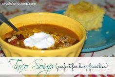 easy recipes how to make taco soup on the stovetop