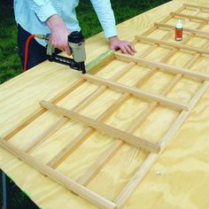 Build the lattice - How to Build a Trellis - Sunset