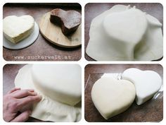 step by step double heart
