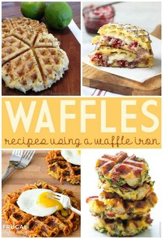Love Waffles? Get creative with these Waffle Recipes using a Waffle Iron on Frugal Coupon Living.