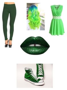 """Green girly punk"" by thegamingcookie on Polyvore featuring Frumos"