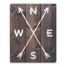 'Direction Arrows' Wall Art On Wood - 19442608 - Overstock.com Shopping - The Best Prices on Art & Photo Decor Wood Wall Art