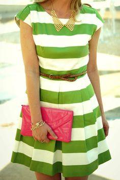 Kate Spade look alike stripe dress from Forever 21