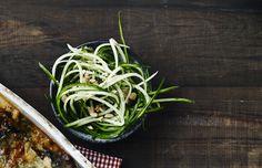 opskrift på salat alla agurkespaghetti