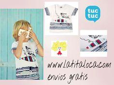 Camisetas de tuc tuc en www.latitaloca.com  Envios gratis  http://latitaloca.com/es/camisetas-y-shorts-nino/1246-camiseta-peces-tuc-tuc.html
