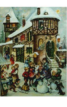 Large Village and Kids Advent Calendar
