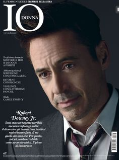 Robert Downey Jr. on the cover of Italy's Io Donna magazine, August 30, 2014