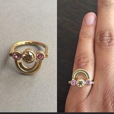 I do bling.  #jrsmithjewellery #jewellery #gold #pink #sapphires #champagne #diamond #sanktpedersstræde23 #artdeco