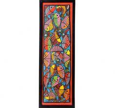 Buy Patachitra Fish Wall Art Rectangle