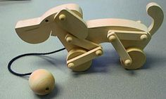 Picture of Wooden Dog Pull Toy