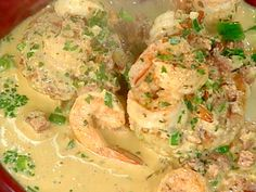 Get this all-star, easy-to-follow Shrimp in Tasso Cream over Rice Cakes recipe from Emeril Lagasse