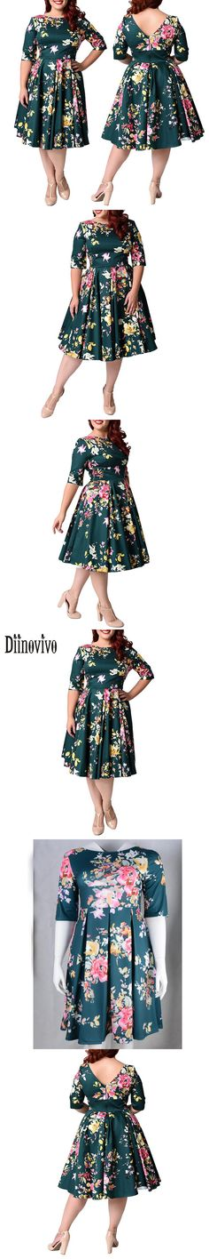 Women Elegant O-Neck Print Dress 2017 New Summer Half sleeve Casual Dresses Vestidos Large size 3XL-8XL Lady A-Line Dress D78