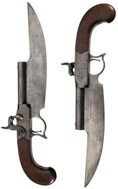 Elgin Cutlass Pistol serial, circa 1830's.