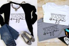 Teacher appreciation week is May 1st! Rock your school spirit with one of our NEW 'Teaching is my Jam' shirts! Your custom design is printed directly onto our super comfy tees for a soft finish that won't fade or crack.