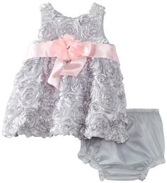 Rare Editions Baby Girls Newborn Soutach Dress, Silver, 0-3 Months Rare Editions,http://www.amazon.com/dp/B00CJ55GTE/ref=cm_sw_r_pi_dp_yF9asb0Y2H7F9D0H