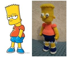 Барт Симпсон крючком. Работа Ксении вязание и схемы вязания                                                                                                                                                      Más